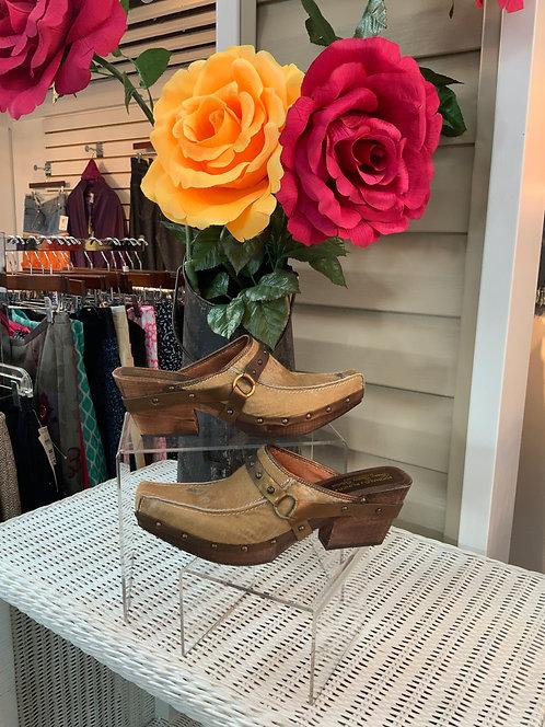 DONALD PLINER - Bronze Boot Mule, Size 11