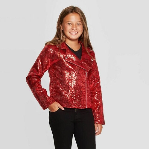 JOJO SIWA - Red Sequin Jacket, Size L, NWT