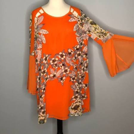Orange Floral Tunic/Dress