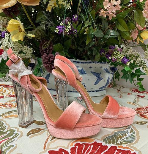 TIARA LA - Pink Velvet Platforms NEW, Size 10