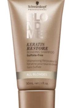 Schwarzkopf - Keratin Restore Bonding Shampoo - All Blondes - Travel Size