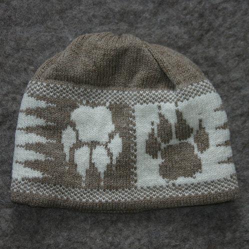 Latte Pawprint Hat