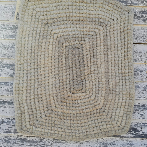 Small Rectangle White Natural Rug