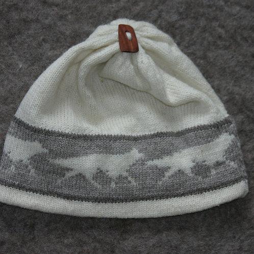 Creme Wolf Hat