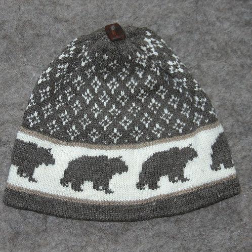 Bear in Snow Hat