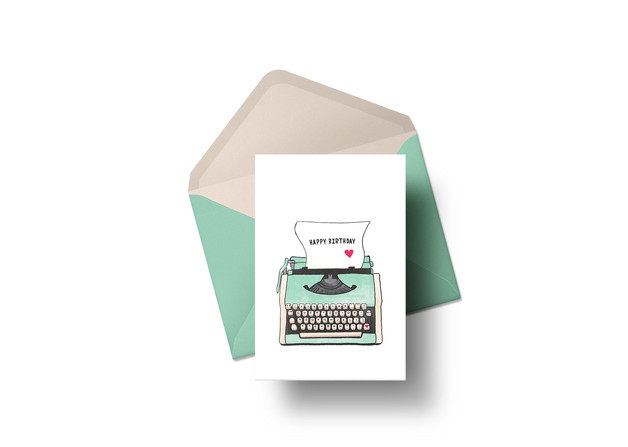 Typewriter Greeting Card