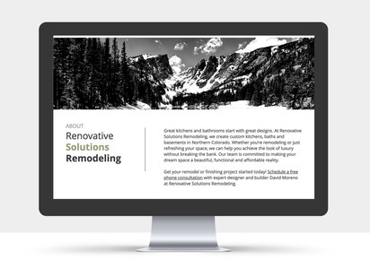 Renovative Solutions Website view 4