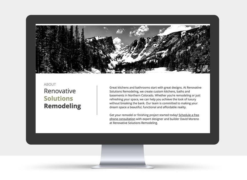 Renovative Solutions Website view 4