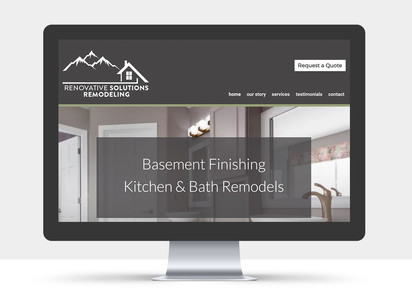 Renovative Solutions Website view 1