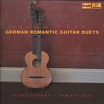 Adam Darr: German Romantic Guitar Duets cd cover art