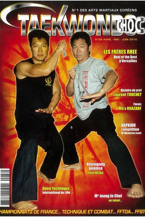 Taekwondo choc #88 - Avril 2016