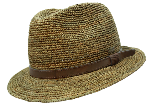 Auréga Mattéo Raphia Crochet Havane