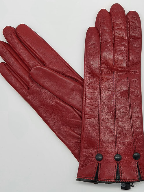 Gants Cuir Gloves Story rouges