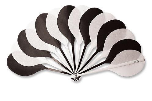 Eventail Palmito Noir et Blanc