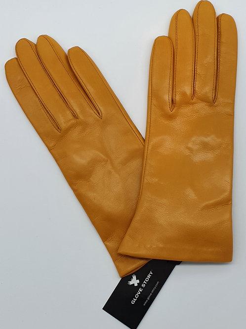 Gants Cuir Gloves Story unis Jaune/Moutarde