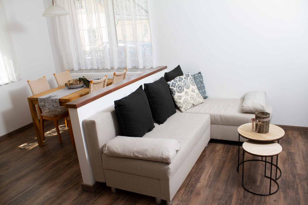Wohnzimmer Appartement Hofblick