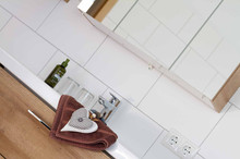 Badezimmer Appartement Hofblick