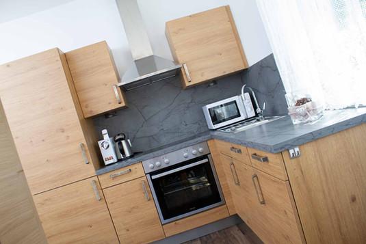 Küche Appartement Hofblick