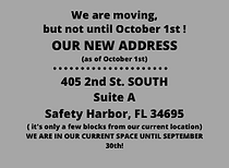 We are moving! October 1st will be our f