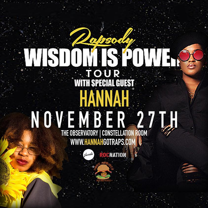 Rapsody Wisdom Is Power Tour
