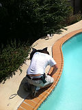 virginia swimming pool caulking re-caulkig, virginia Residential Pool Services Maintenance Virginia Maryland DC