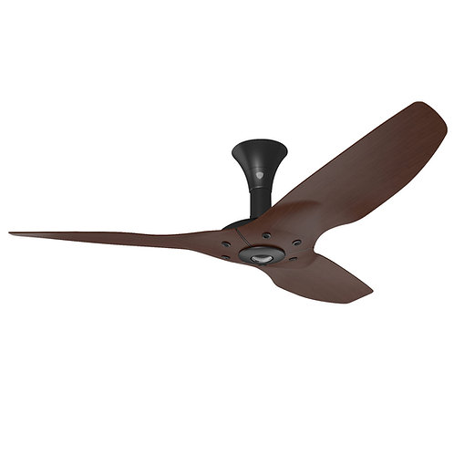 "Haiku 52"" / 60"" H-series DC Fan, Cocoa, Black Stem Short Mount"