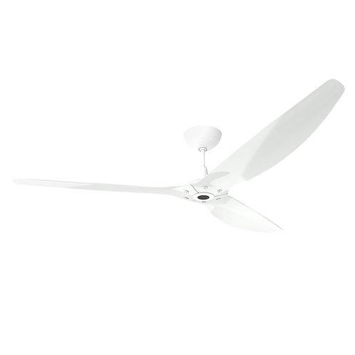 Haiku 84-series DC Fan, White Aluminium, White Stem