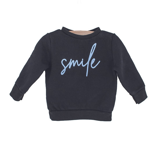 Mini sweater Smile blauw