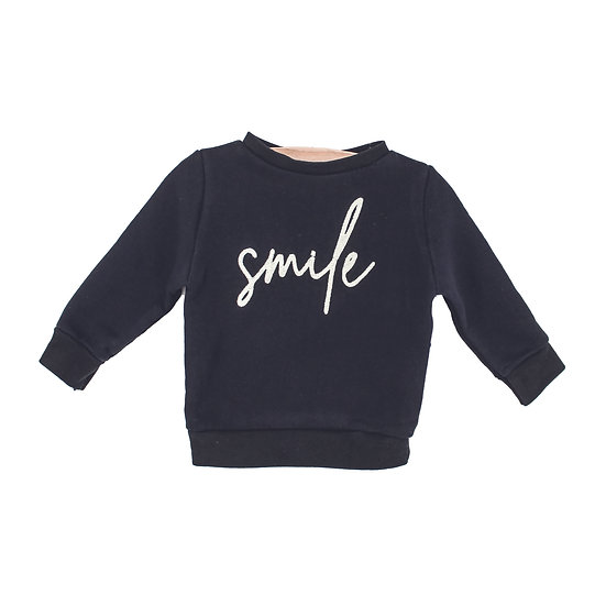 Mini sweater Smile geel