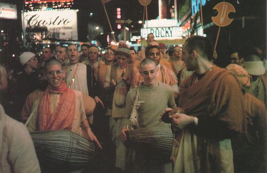 Times Square harinama 1977