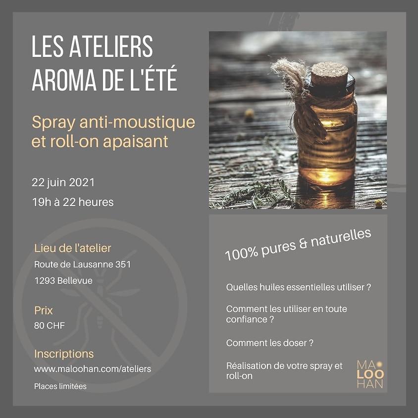 ATELIER AROMA DE L'ÉTÉ    Spray antimoustique et roll-on apaisant