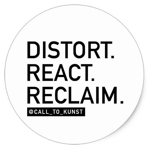 Distort React Reclaim Round Stickers (Set of 6)