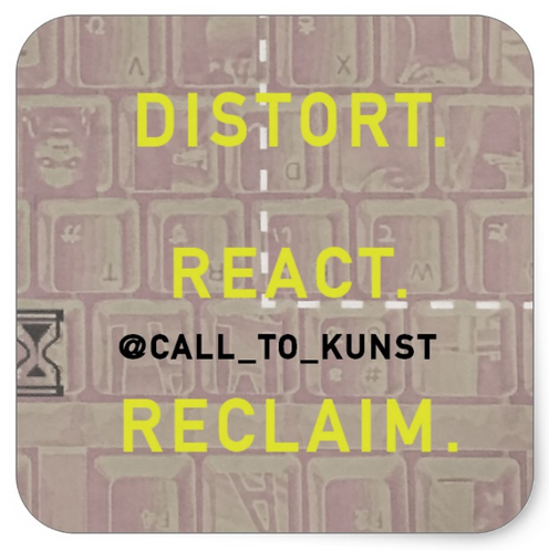 Distort React Reclaim Square Stickers (Set of 6)