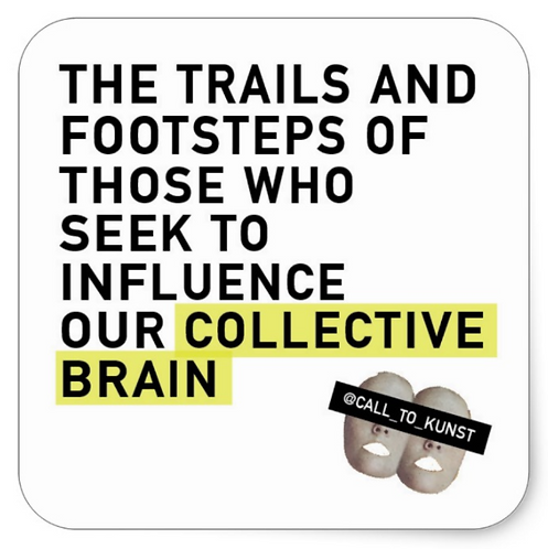Collective Brain Square Stickers (Set of 6)