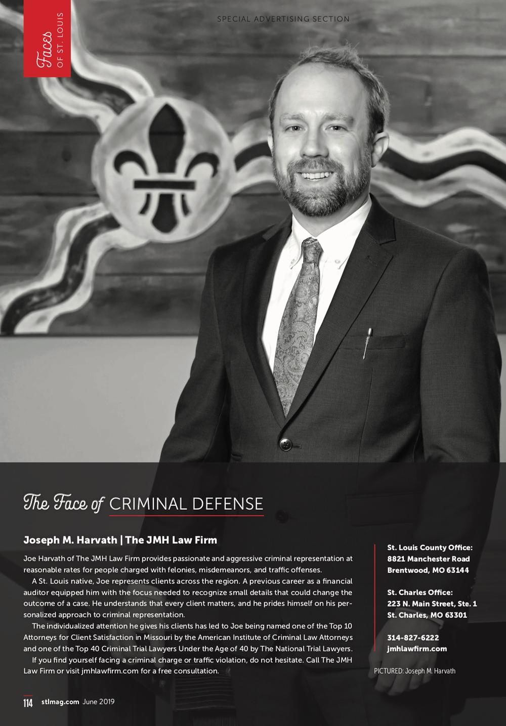 Joe Harvath Face of Criminal Defense
