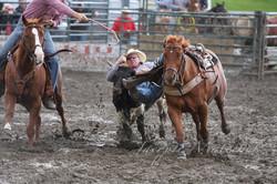 Now that's steer wrestlin'