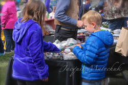 Young shoppers in Mercantile Alley