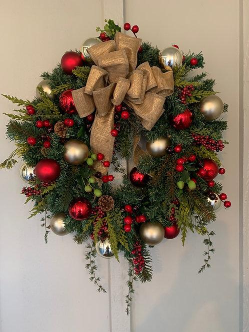 Mixed Evergreen Christmas Wreath