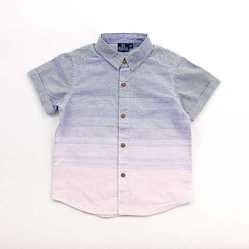 Navy Gideon Button Down Sizes 2T - 7Y