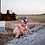 Thumbnail: Flutter Sleeve Henley Romper - Peach
