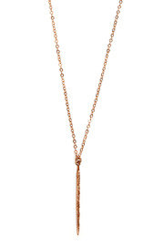 ROSE GOLD PAVE DAGGAR NECKLACE