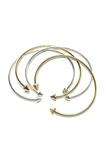 SPIKE CUFF - SILVER OR GOLD