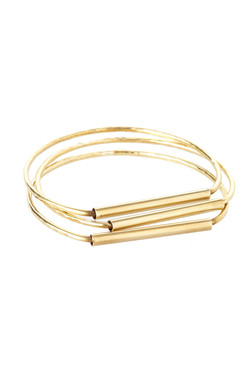 Straight Bangle - Brass