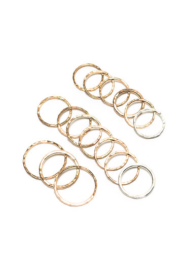 HAMMERED RINGS- PINKY TO KNUCKLE SIZED