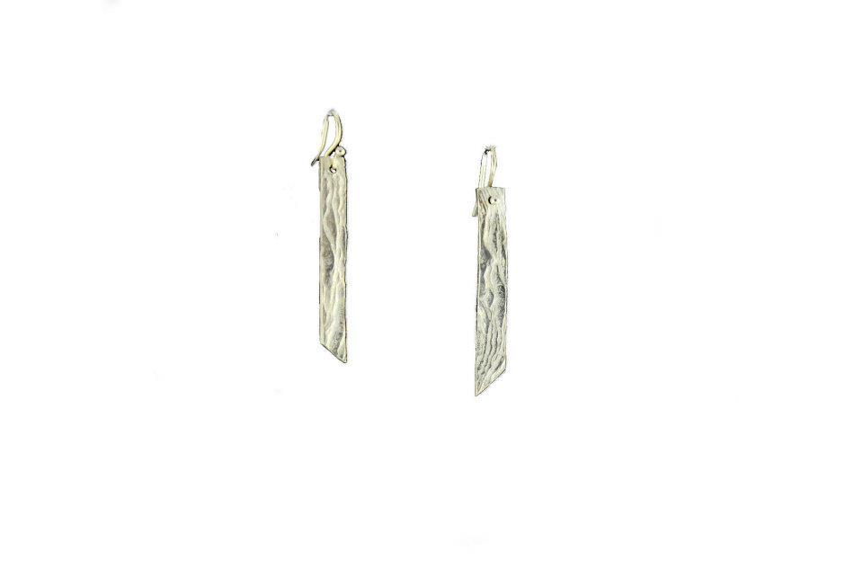 Fine Silver Bark Earrings