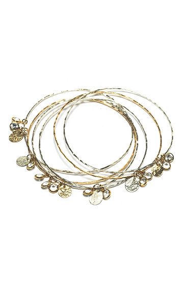GYPSY BANGLES - SILVER OR GOLD