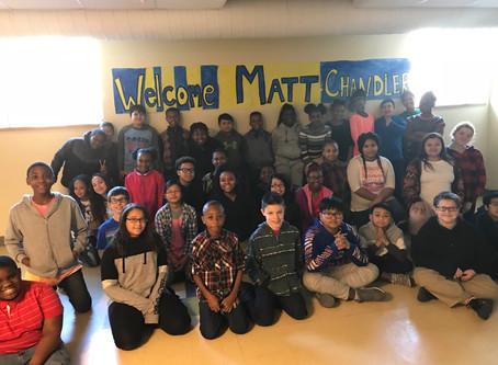 West Buffalo Charter School Author Visit