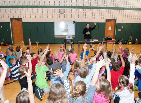 A new school year means more school author visits!