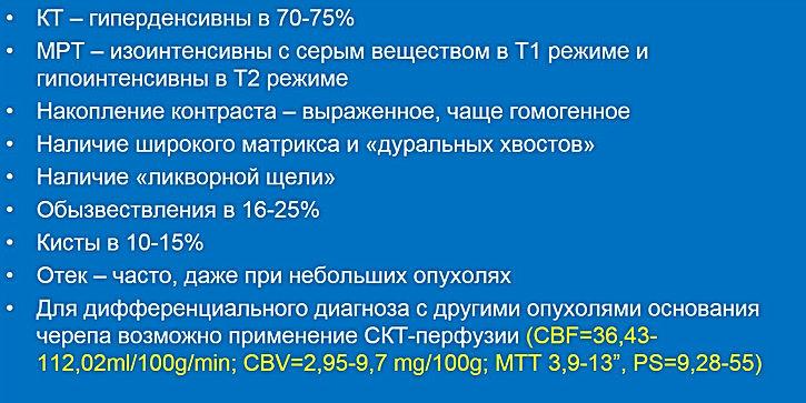 КТ и МРТ признаки менингиом
