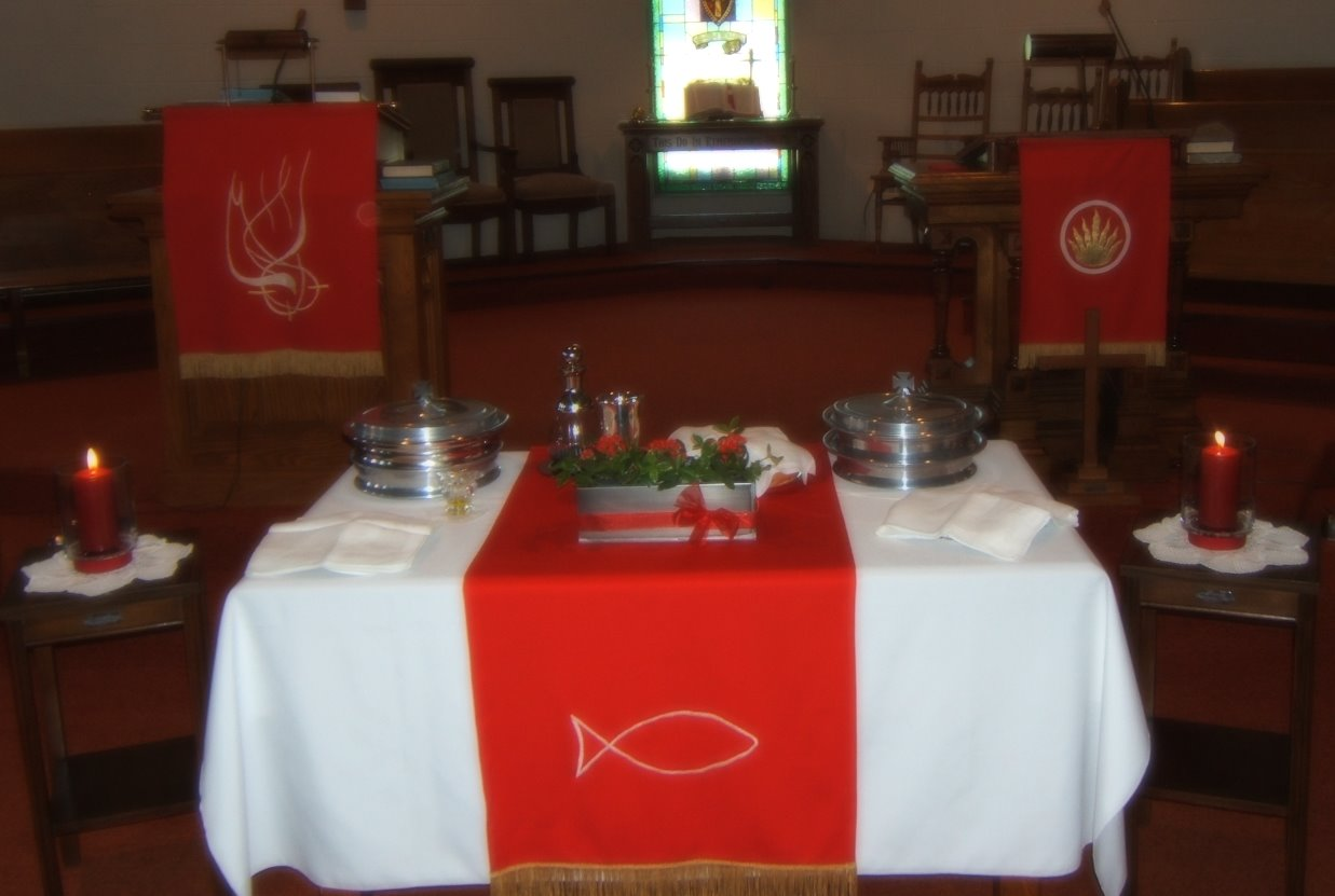 Communion Table at Pentecost
